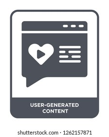 user-generated content icon vector on white background, user-generated content trendy filled icons from Technology collection, user-generated content simple element illustration