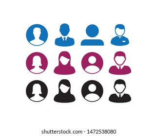 users avatar icons symbols in vector format