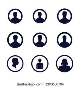 Users icons set. Vector illustration. Profile picture icons