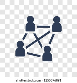Users interconnected icon. Trendy Users interconnected logo concept on transparent background from Business and analytics collection