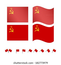 USSR Flags EPS10