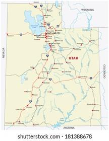 Utah Roads Stock Vectors, Images & Vector Art | Shutterstock