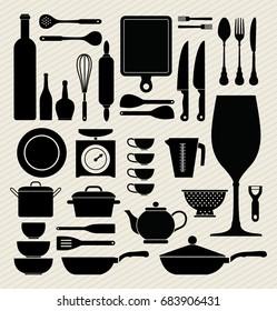Utensil kitchen icon, vector illustration