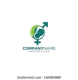 uterine nutrition scan x-ray baby leaf sexual consultation logo art icon vector illuatration