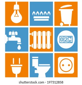 Utilities icons set