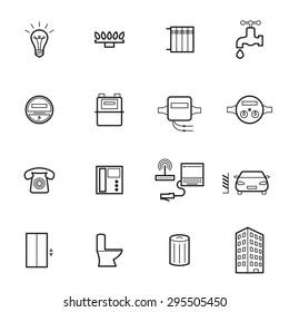 Utilities icons. Vector illustration