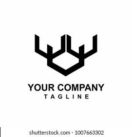 Uuu images stock photos vectors shutterstock uuu or uw initials letter logo urtaz Choice Image