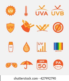 uv . logo and icon vector , set of 16 ultraviolet