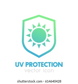 UV protection icon on white