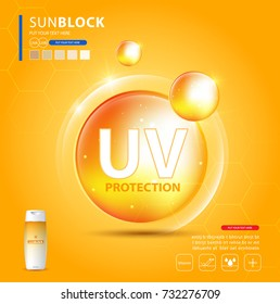 UV protection or ultraviolet sunblock icon. Vector illustration design.