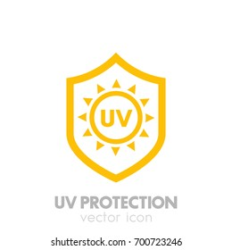 UV protection vector icon on white
