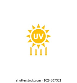 UV radiation, solar ultraviolet icon
