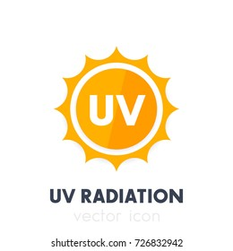 UV radiation, ultraviolet icon