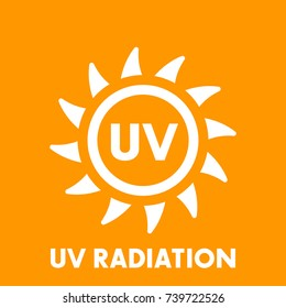 UV radiation vector sign