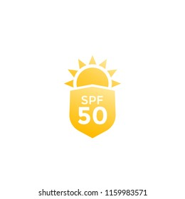 UV, sun protection SPF 50 vector icon