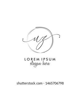 UZ Initial beauty monogram logo vector