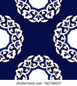 Uzbek seamless pattern. Pahta - traditional ornament in Uzbekistan.