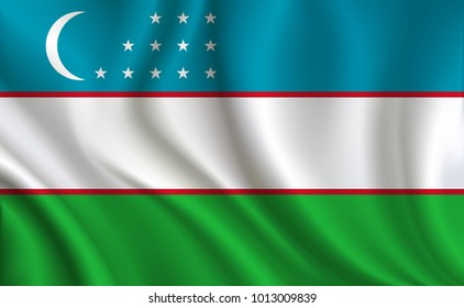 Uzbekistan Flag background