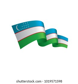 Uzbekistan flag, vector illustration
