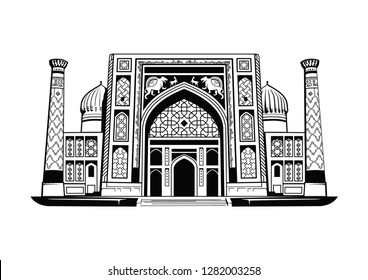 Uzbekistan Samarkand Madrasah Sherdor