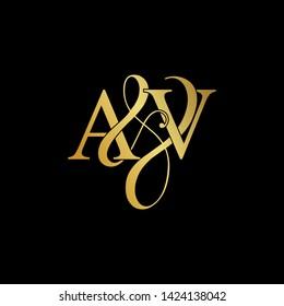 A and V / AV logo initial vector mark