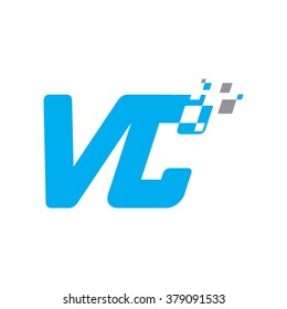 v and c logo vector.