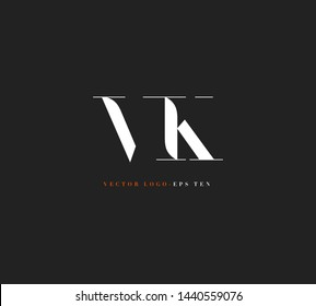 V K letters Joint logo icon vector for business card and corporate identity.