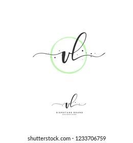 V L VL Initial logo template vector