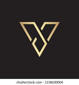 V letter logo design vector