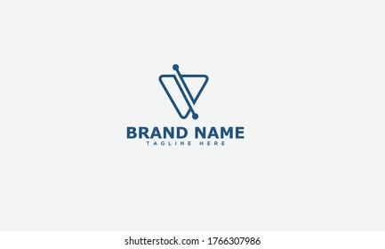V Logo Design Template Vector