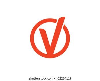 V logo design vector