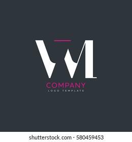 V M letter logo design