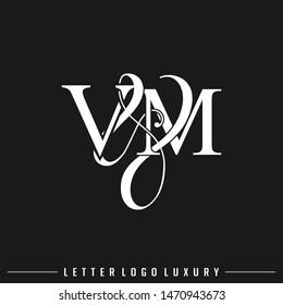 V & M VM logo initial letter luxury vector template.