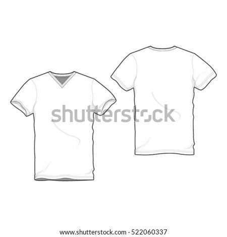 V Neck Tee Shirt Template