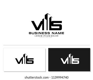 V S Initial building logo concept