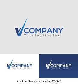 V shape Logo