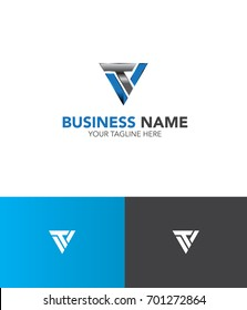 v and t logo vector