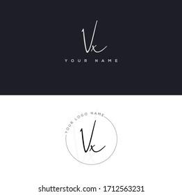 V X VX Initial letter handwriting and signature logo.