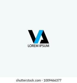 VA design for logo font