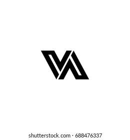 va letter logo