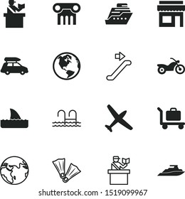 vacancy vector icon set such as: delivery, sale, small, activity, aircraft, walkway, restaurant, information, fish, outline, column, architectural, fin, air, commercial, shipping, pool, holiday