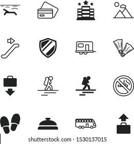 vacancy vector icon set such as: deposit, smoke, seaside, cash, walkway, prohibition, finance, station, camp, seacoast, concierge, room, escalator, beach, two, truck, swim, prohibit, soft, camper