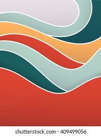 Vacation elegant abstract background. Vector illustration.