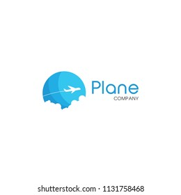 Vacation Flying Vector Logo Template