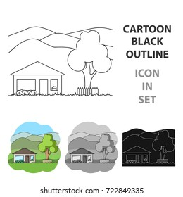 Vacation home.Realtor single icon in cartoon style vector symbol stock illustration web.