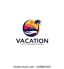 Vacation Logo Design Vector for Travel Agency Icon and Application