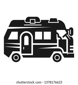 Vacation motorhome icon. Simple illustration of vacation motorhome vector icon for web design isolated on white background