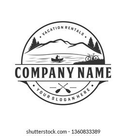 Vacation rental logo design, outdoor logo