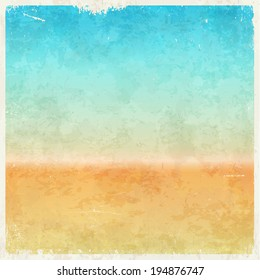 Vacation themed grungy retro abstract vector background