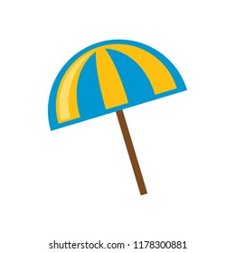 Vacation and travel concept. Beach umbrella